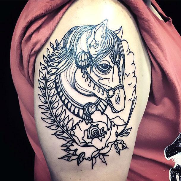 Cute Horse Tattoo Idea