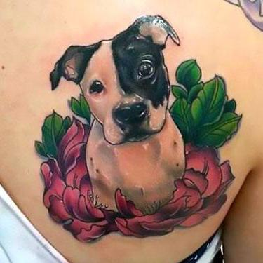 Cute Pitbull Tattoo