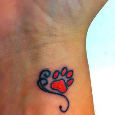 Cute Tiny Puppy Paw Print Tattoo
