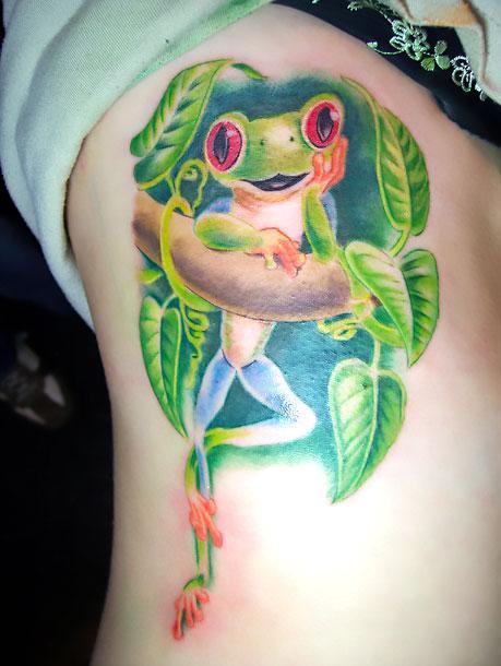 Cute Tree Frog Tattoo Idea