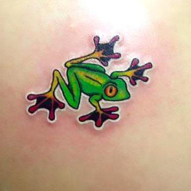 Cute Small Frog Tattoo