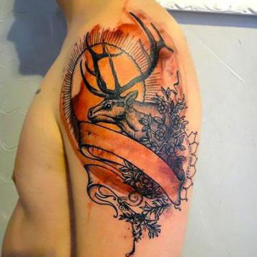 Deer for Men Tattoo