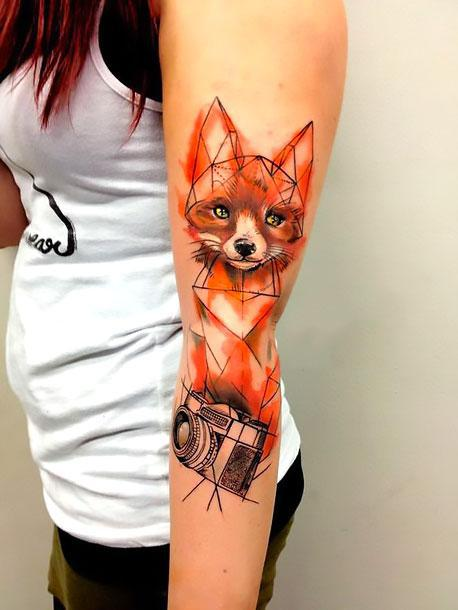 Fox and Camera Tattoo Idea