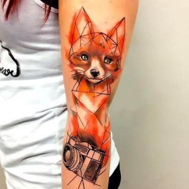 Fox and Camera Tattoo