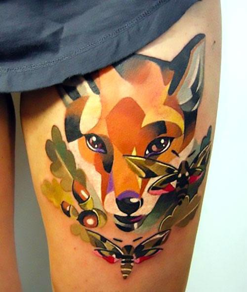 Fox Face Tattoo Idea