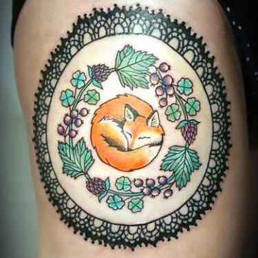 Fox Mandala Tattoo