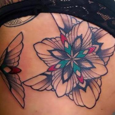Abstract Butt Tattoo