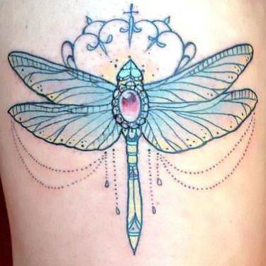 Girly Dragonfly Tattoo