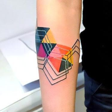 Abstract Geometric Tattoo