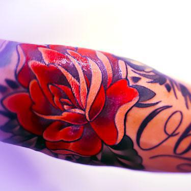 Cool Forearm Name Tattoo