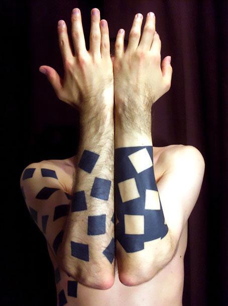 Cool Geometric Tattoo Idea