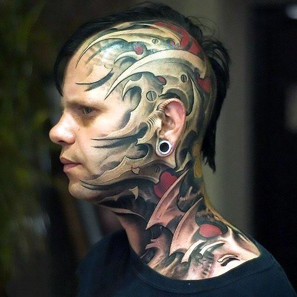Cool Head Tattoo Idea