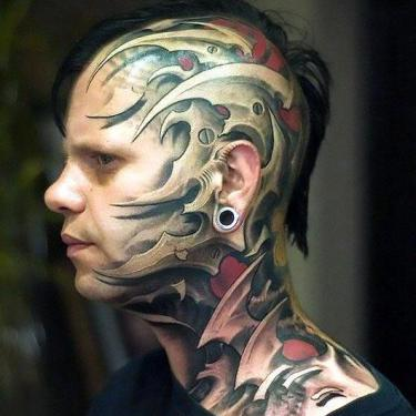 Cool Head Tattoo