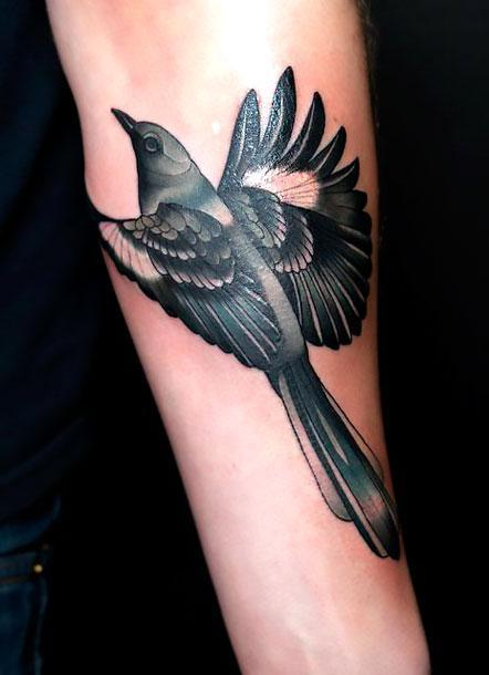 Cool Mockingbird Tattoo Idea