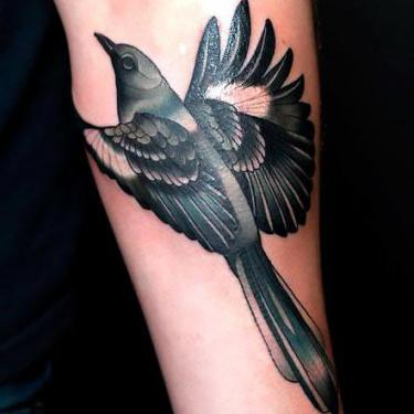 Cool Mockingbird Tattoo