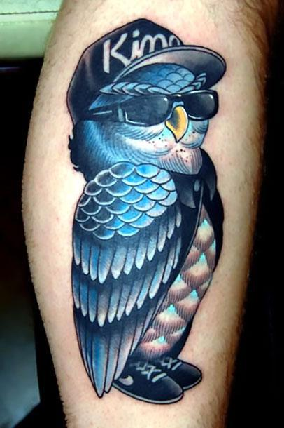 Cool Owl Tattoo Idea
