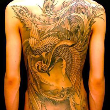 Cool Phoenix Tattoo for Girls Tattoo