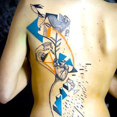 Abstract Tattoo for Girls Tattoo
