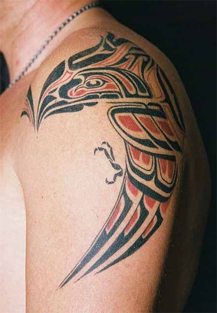 Cool Tribal Eagle Tattoo on Forearm Tattoo Idea