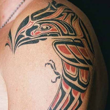 Cool Tribal Eagle Tattoo on Forearm Tattoo