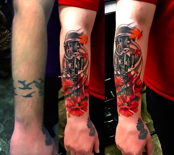 Cover Up on Forearm Tattoo Idea