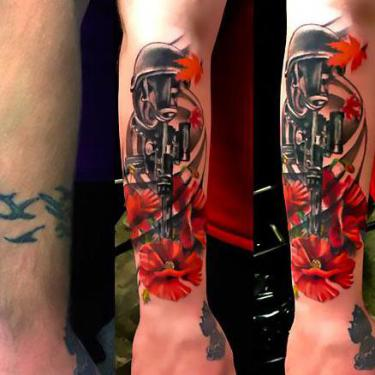 Cover Up on Forearm Tattoo