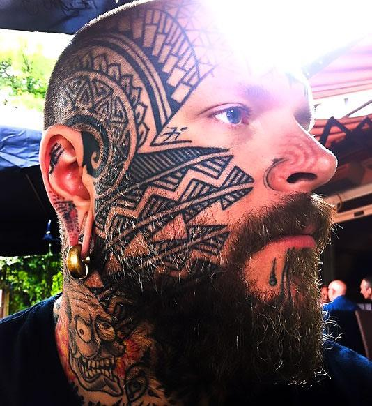 Crazy Face Tattoo Idea