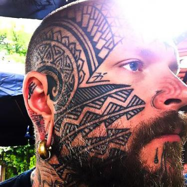 Crazy Face Tattoo