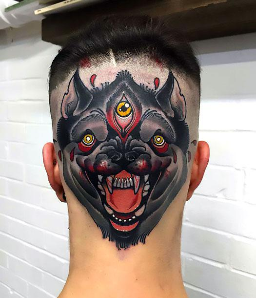 Crazy Head Tattoo Idea