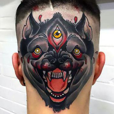 Crazy Head Tattoo