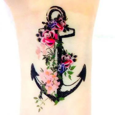 Cute Anchor on Wrist Tattoo