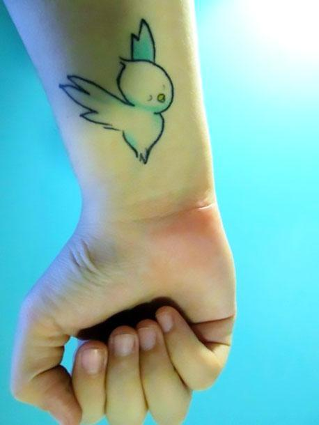 Cute Bird Tattoo Idea