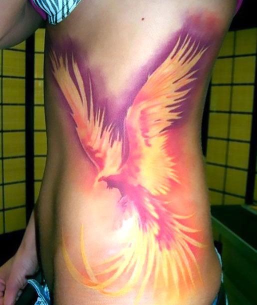 Amazing 3D Phoenix Tattoo Idea