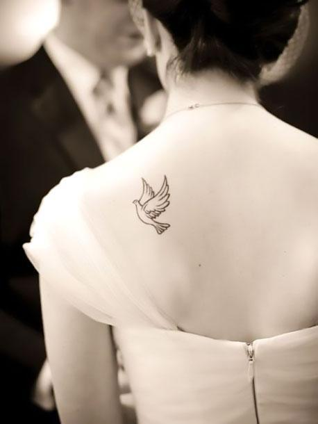 Cute Dove Tattoo Idea