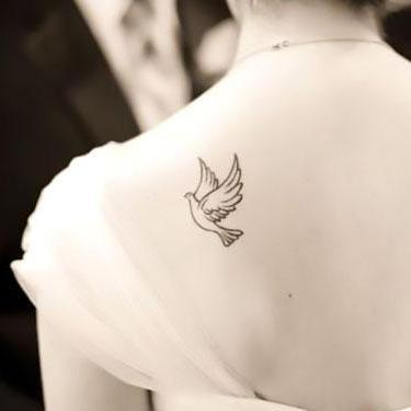 Cute Dove Tattoo
