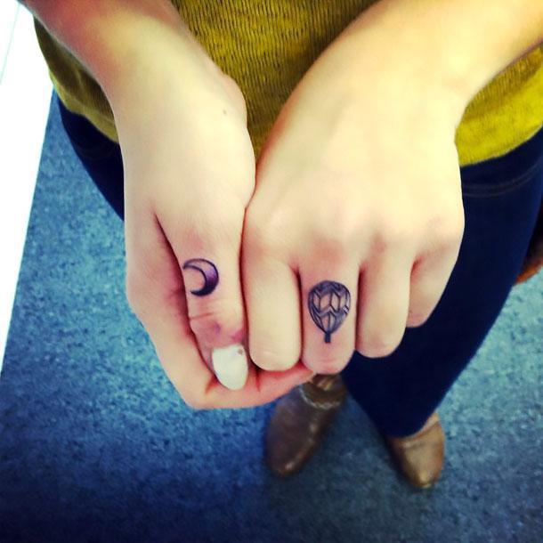 Cute Finger Tattoo Idea