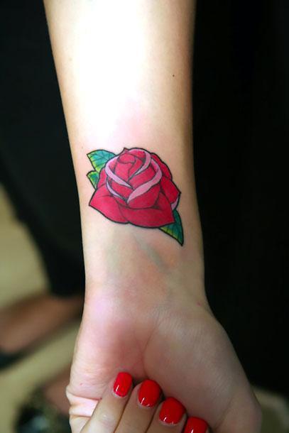 Cute Forearm Rose Tattoo Idea