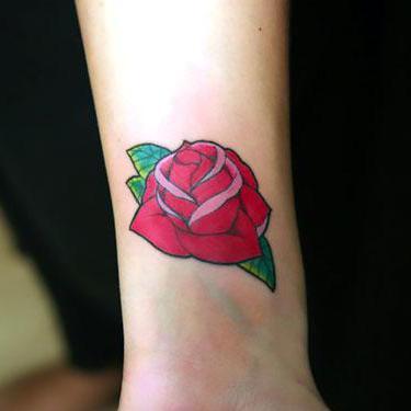 Cute Forearm Rose Tattoo