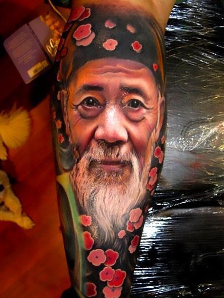 Amazing Asian Portrait Tattoo Idea