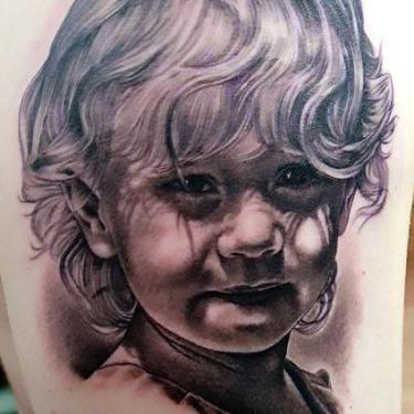 Cute Girl Portrait Tattoo