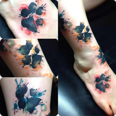 Puppy Paw Print Tattoo