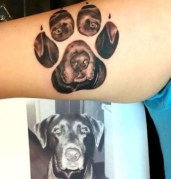 Puppy Print Tattoo Idea