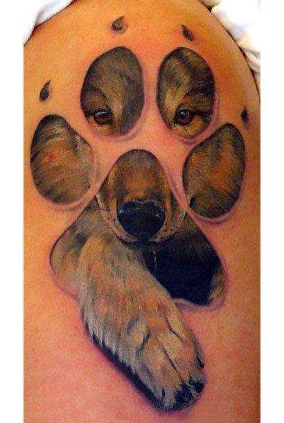 Puppy Wolf Animal Print Tattoo Idea