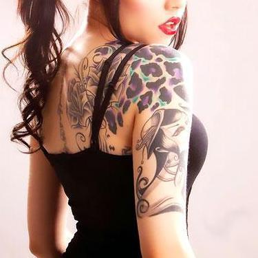Purple Cheetah Print Tattoo