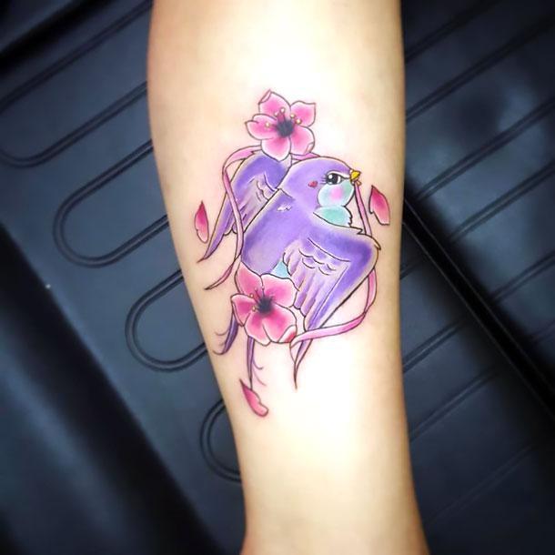 Cute Sexy Swallow Tattoo Idea
