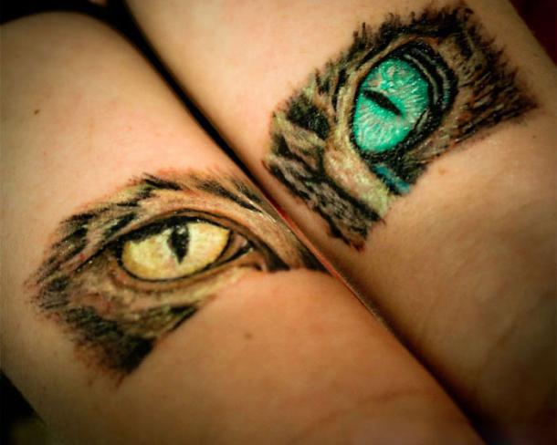 Cat Eyes Tattoo Idea