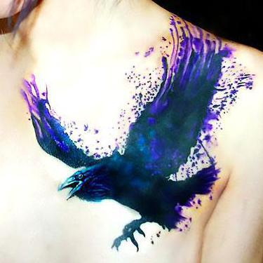 Amazing Crow Tattoo