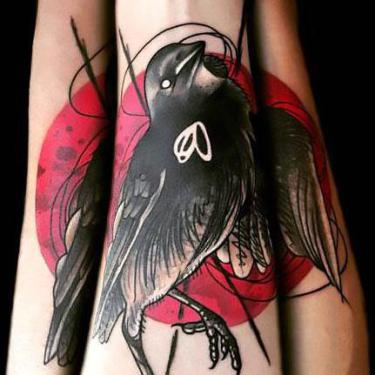Dead Sparrow on Forearm Tattoo