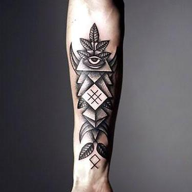 Dotwork on Inner Forearm Tattoo