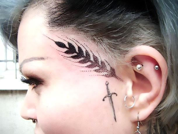 Dotwork Spica Face Tattoo Idea